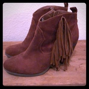 Madden Girl brown leather booties